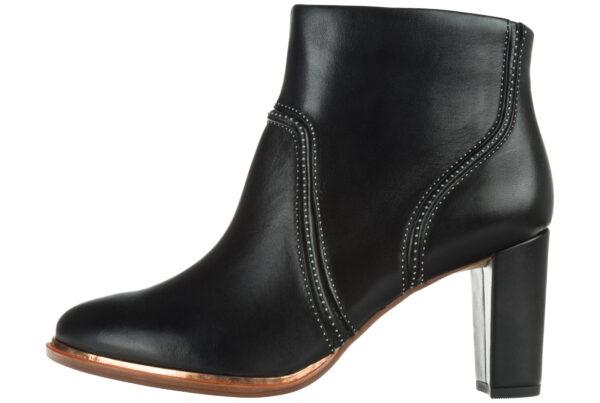 Dámske  Ellis Betty Členková obuv Clarks -  čierna
