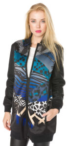 Dámske  Bunda Versace Jeans -  čierna modrá