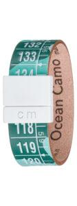 Pánske  Ocean Camo Náramok Il Centimetro -  modrá zelená