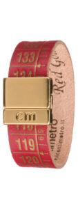 Pánske  Red Gold Náramok Il Centimetro -  červená