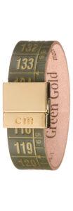 Pánske  Green Gold Náramok Il Centimetro -  zelená zlatá
