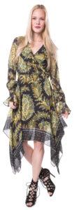 Dámske  Providence Šaty Pinko -  čierna viacfarebná