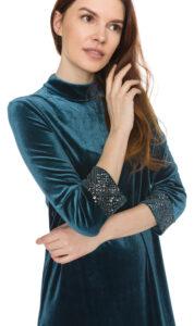 Dámske  Aurore Šaty French Connection -  modrá zelená