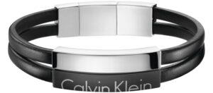 Pánske  Náramok Calvin Klein -  čierna strieborná
