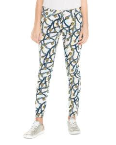 Dámske  260 Nohavice Trussardi Jeans -  modrá žltá biela