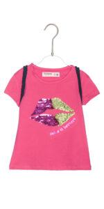 Dievčenské  Halifax Tričko detské Desigual -  ružová