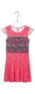 Dievčenské  Olympia Šaty detské Desigual -  ružová viacfarebná