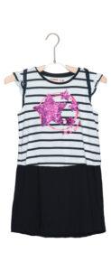 Dievčenské  Tunez Šaty detské Desigual -  čierna biela