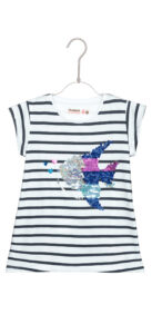 Dievčenské  Saskatchewan Tričko detské Desigual -  biela