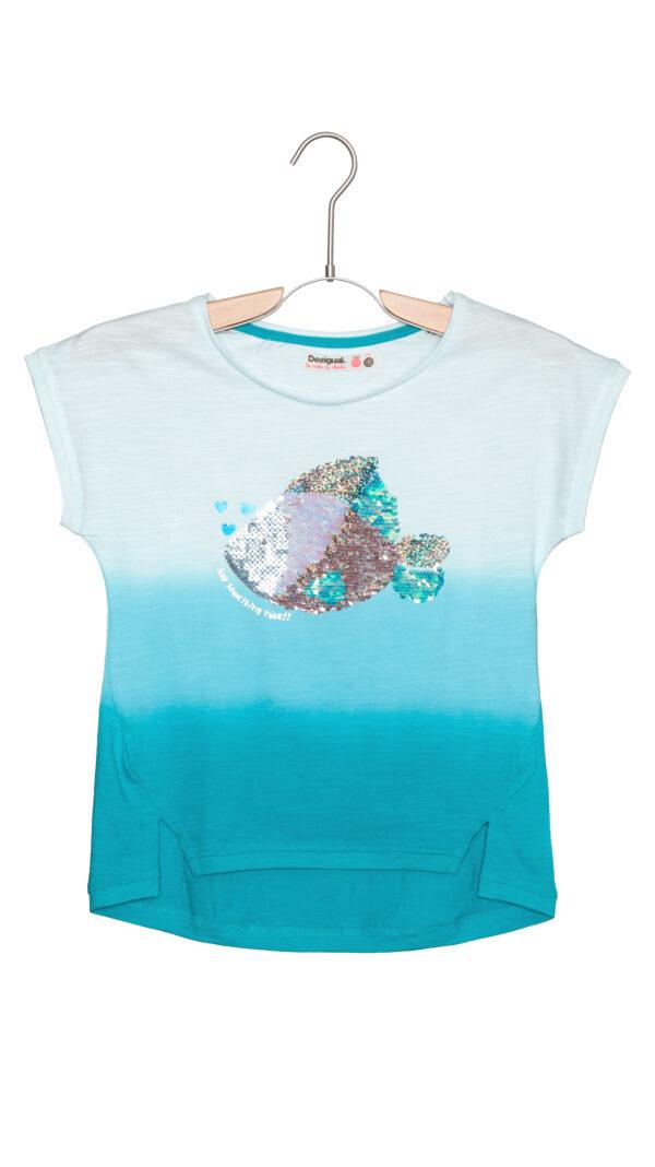 Dievčenské  Manitoba Tričko detské Desigual -  modrá
