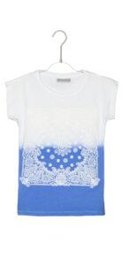 Dievčenské  Tričko detské Geox -  modrá biela
