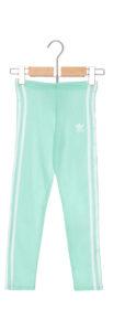 Dievčenské  3-Stripes Legíny detské adidas Originals -  modrá zelená
