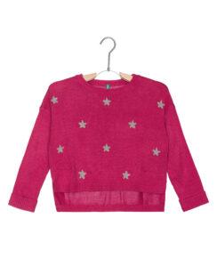 Dievčenské  Sveter detský United Colors of Benetton -  ružová