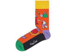 Dámske  Monsters Ponožky Happy Socks -  oranžová
