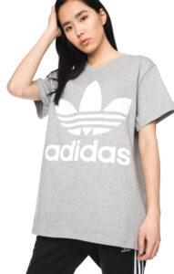 Dámske  Big Trefoil Tričko adidas Originals -  šedá
