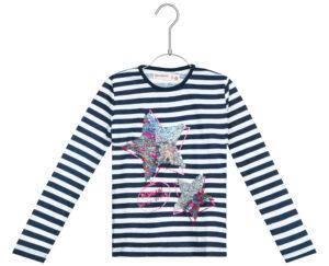 Dievčenské  Ottawa Tričko detské Desigual -  modrá biela