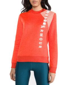 Dámske  Armour Fleece® Mikina Under Armour -  červená oranžová