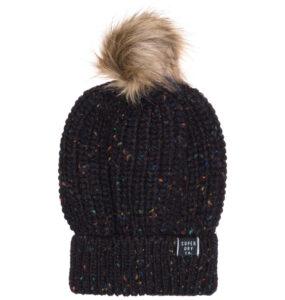 Dámske  Zoe Nep Zimná čiapka SuperDry -  čierna
