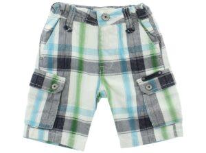 Chlapčenské  Šortky detské Diesel -  modrá zelená biela