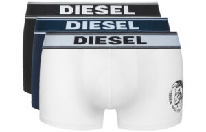 Pánske  Boxerky 3 ks Diesel -  čierna modrá biela