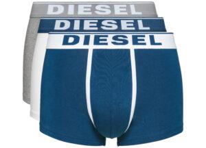 Pánske  Boxerky 3 ks Diesel -  modrá biela šedá