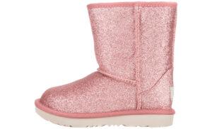 Dievčenské  Classic Short II Glitter Snehule detské UGG -  ružová