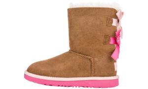 Dievčenské  Bailey Bow II Snehule detské UGG -  hnedá