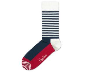 Pánske  Half stripe Ponožky Happy Socks -  modrá červená biela