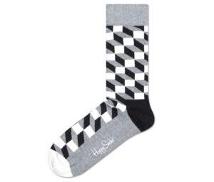 Pánske  Filled Optic Ponožky Happy Socks -  čierna šedá
