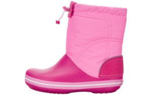Dievčenské  Crocband™ Lodge Point Snehule detské Crocs -  ružová