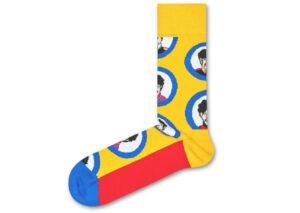 Pánske  The Beatles Portrait Ponožky Happy Socks -  žltá