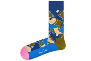 Pánske  Raw Ponožky Happy Socks -  modrá viacfarebná