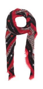 Dámske  Šatka Guess -  čierna červená viacfarebná