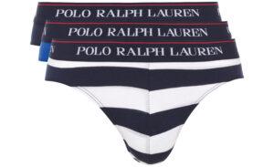 Pánske  Slipy 3 ks Polo Ralph Lauren -  modrá biela