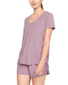 Dámske  Athlete Recovery Sleepwear™ Tričko na spanie Under Armour -  ružová fialová