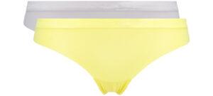 Dámske  Dynamic Micro Nohavičky 2 ks Calvin Klein -  žltá šedá