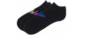 Pánske  Ponožky 3 páry Emporio Armani -  čierna