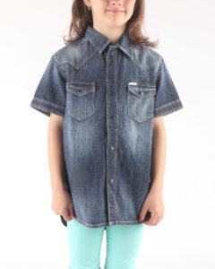 Dievčenské  Clori Košeľa detská Diesel -  modrá