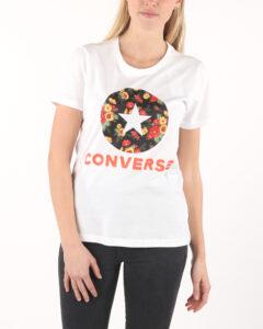 Dámske  Bloom Floral Tričko Converse -  biela