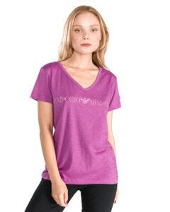 Dámske  Tričko na spanie Emporio Armani -  ružová fialová