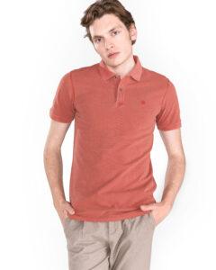 Pánske  Chicago Polo tričko Jack & Jones -  červená