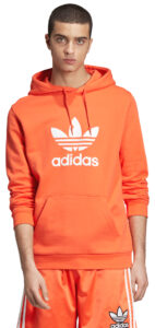 Pánske  Trefoil Mikina adidas Originals -  oranžová