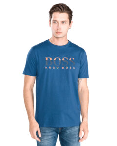 Pánske  Tiburt 98 Tričko BOSS Hugo Boss -  modrá