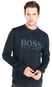 Pánske  Weave Sveter BOSS Hugo Boss -  modrá
