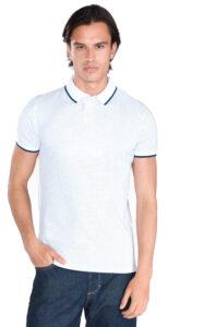 Pánske  Polo tričko Tom Tailor Denim -  biela