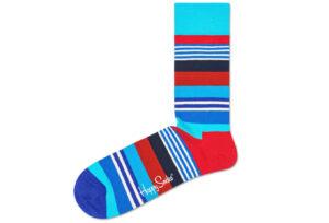 Pánske  Multi Stripe Ponožky Happy Socks -  modrá červená