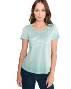 Dámske  Tričko Tom Tailor -  modrá zelená