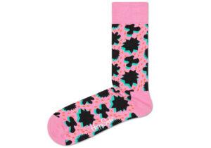 Dámske  Comic Relief Ponožky Happy Socks -  ružová