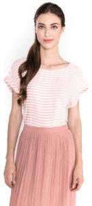 Dámske  Top Tom Tailor Denim -  ružová biela