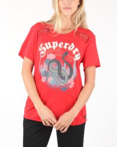 Dámske  Tričko SuperDry -  červená